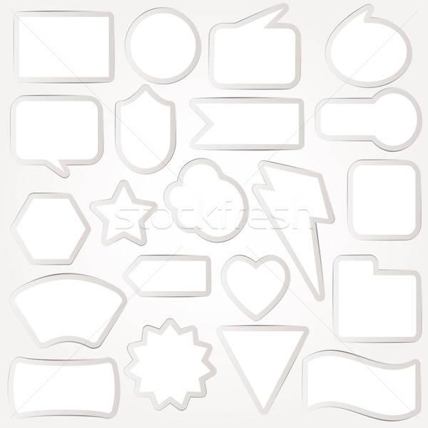 吹き出し ベクトル セット にログイン 思考 グラフィック ストックフォト © alvaroc