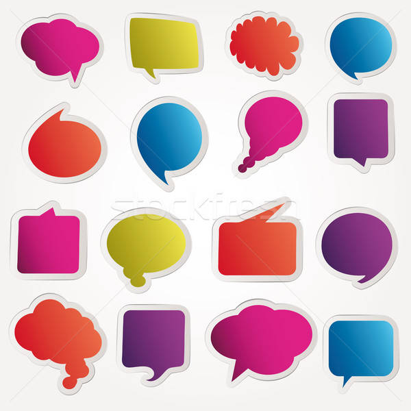 Speech bubbles vector set Stock photo © alvaroc