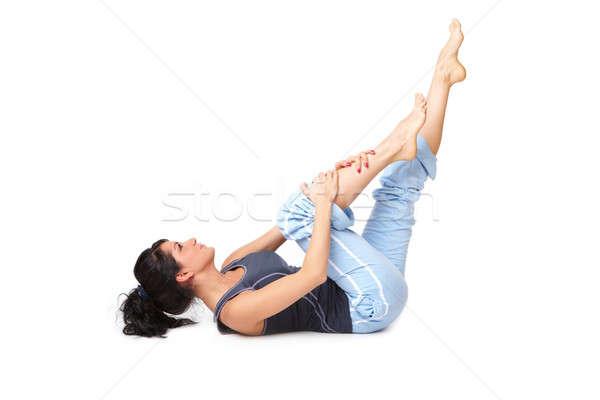 Esercizio isolato bianco donna felice Foto d'archivio © Amaviael