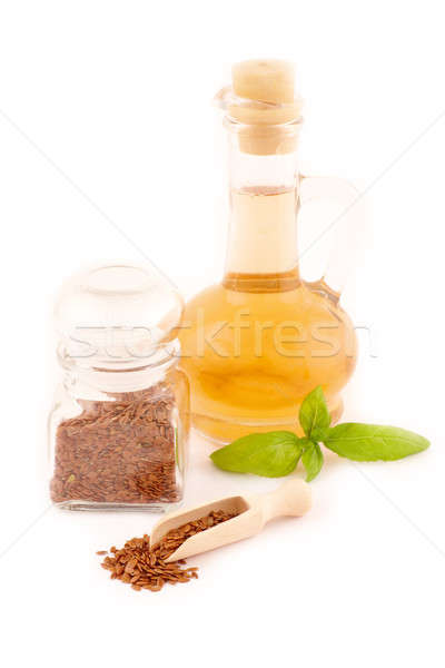 Dried linseed with macerated oil Stock photo © Amaviael