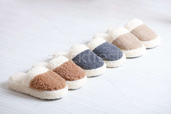 Natural woollen slippers Stock photo © Amaviael