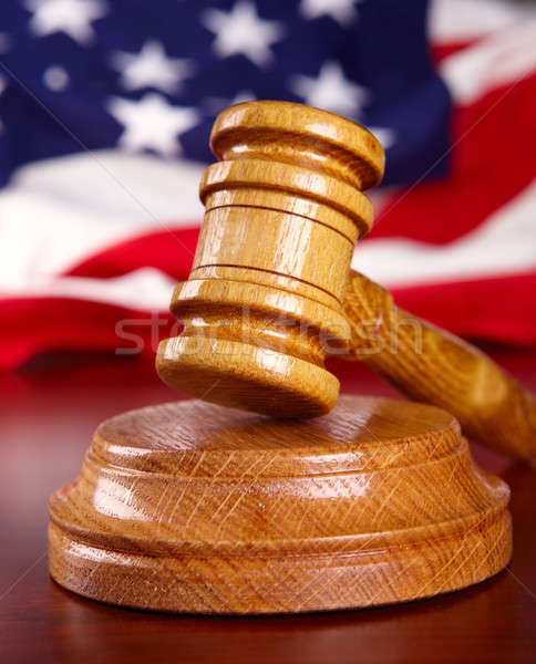 Judges gavel with flag Stock photo © Amaviael