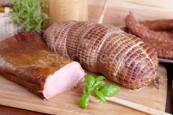 Cold smoked meat Stock photo © Amaviael