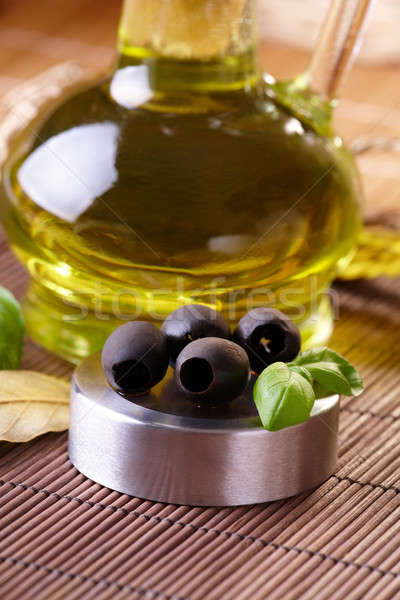 Black olives and oil  Stock photo © Amaviael
