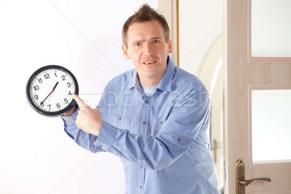 Tarde enojado hombre reloj Foto stock © Amaviael