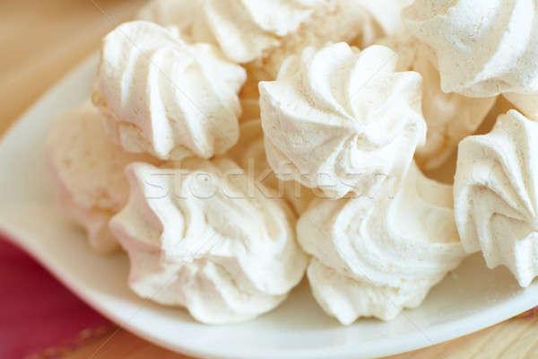 Fehér tányér felszolgált elegáns stílus étel Stock fotó © Amaviael