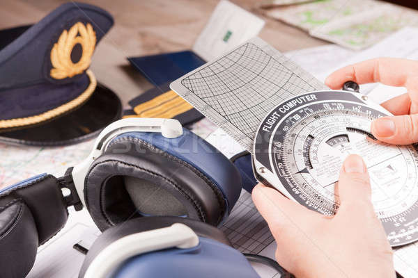 Airplane pilot equipment Stock photo © Amaviael