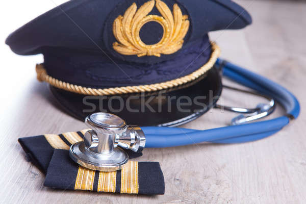 Sınav uçak pilot şapka Stok fotoğraf © Amaviael