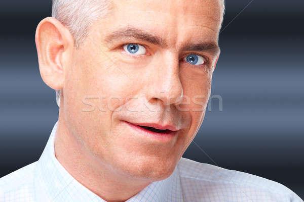 Portret człowiek biznesu twarz uśmiechnięty dojrzały człowiek Zdjęcia stock © Amaviael