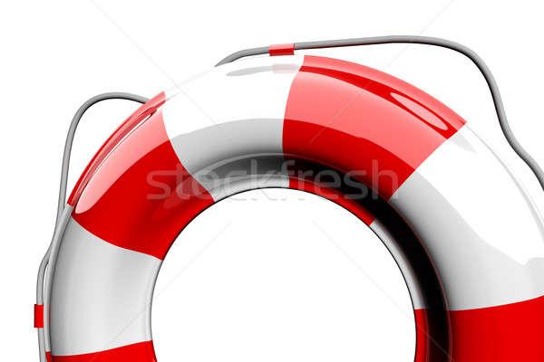 Foto stock: Vermelho · branco · isolado · segurança · ajudar · vida