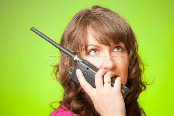 Woman talking on the walkie-talkie  Stock photo © Amaviael