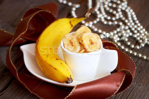 Foto stock: Banana · batatas · fritas · frito · fresco · saudável