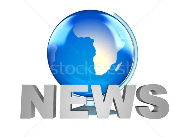 Stock photo: News and Earth globe