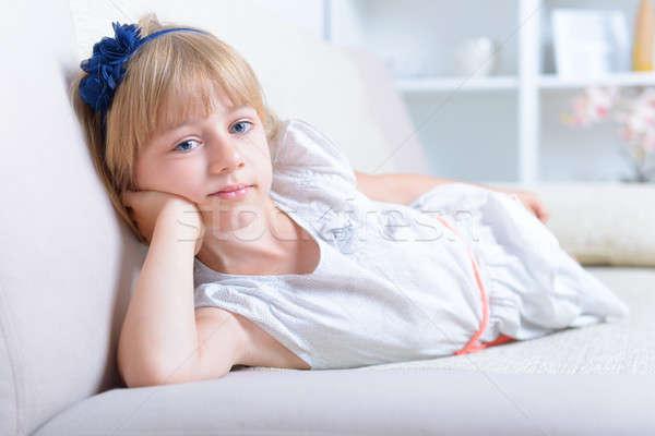Beautiful blue eyed girl Stock photo © Amaviael