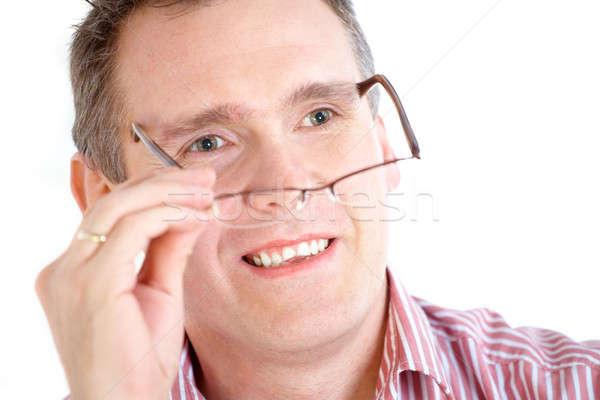 Man taking off glasses Stock photo © Amaviael