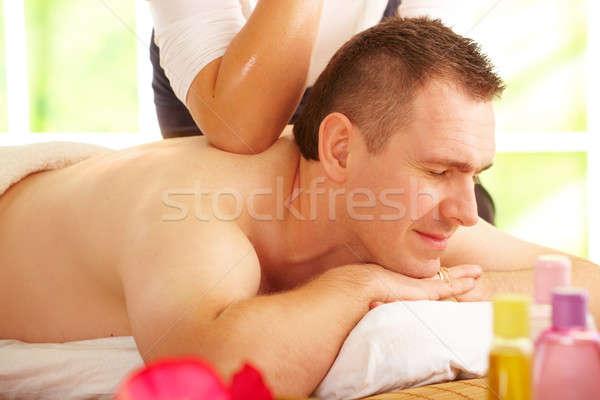 Tailandés masaje tratamiento masculina femenino Foto stock © Amaviael