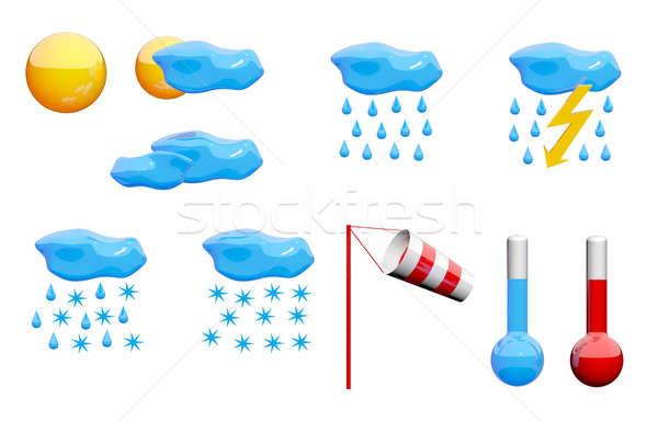 Weather icons set Stock photo © Amaviael