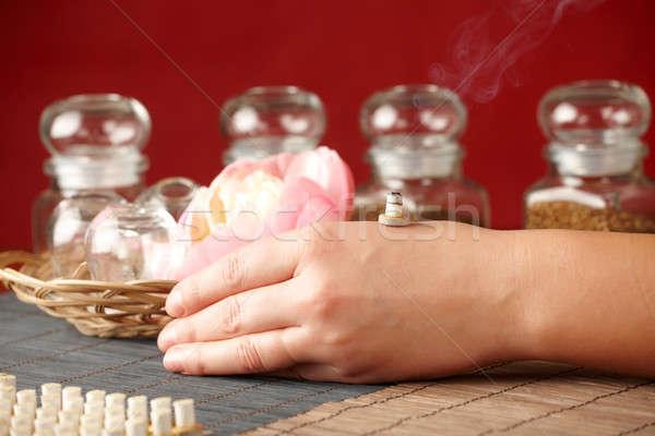 Smoking mini moxa stick Stock photo © Amaviael