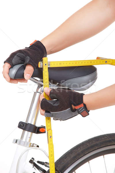 Measuring bike saddle Stock photo © Amaviael