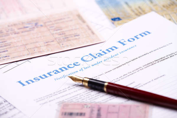 Stock photo: Blank insurance claim form