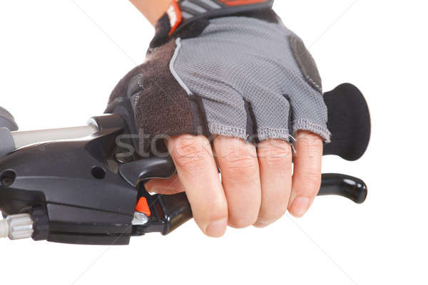 Hand pushing brake lever Stock photo © Amaviael
