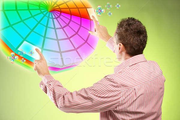 Hombre colores interior arquitecto disenador Foto stock © Amaviael
