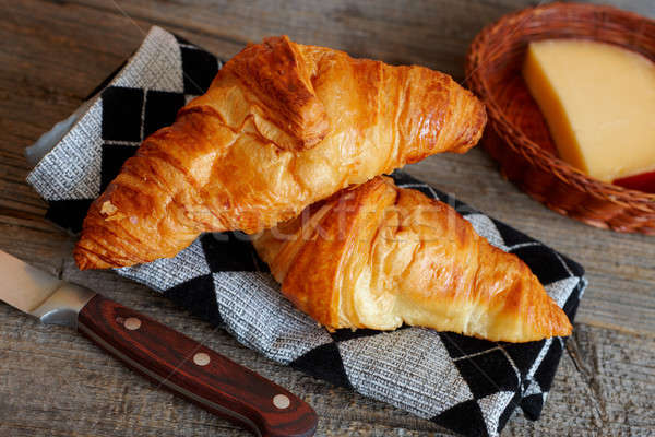 French croissants Crescents Stock photo © Amaviael