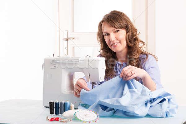 woman using sewing machine Stock photo © Amaviael