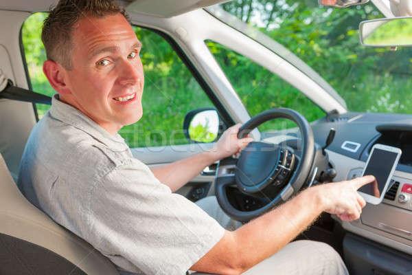 Man in car Stock photo © Amaviael