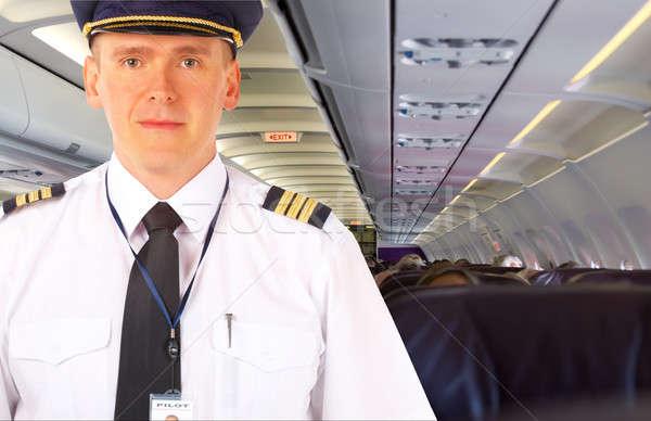 Airline pilot on board Stock photo © Amaviael
