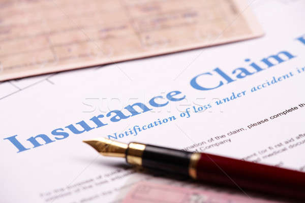 Blank insurance claim form Stock photo © Amaviael