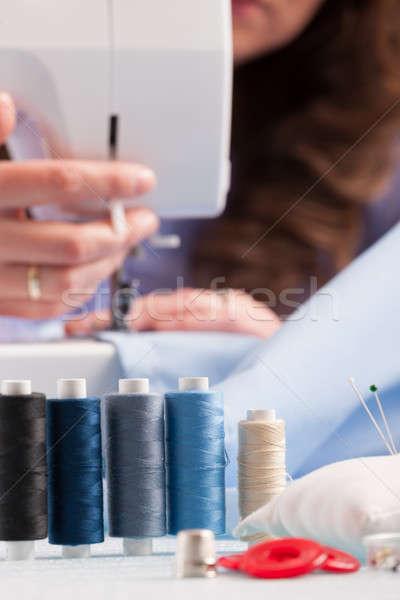 Cor de costura outro como botões Foto stock © Amaviael