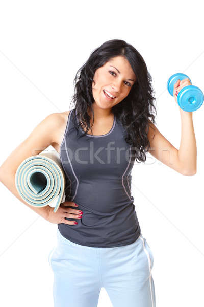 Young woman with dumbbell Stock photo © Amaviael
