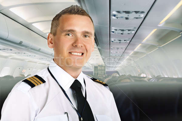Airline pilot on board Stock photo © Amaviael