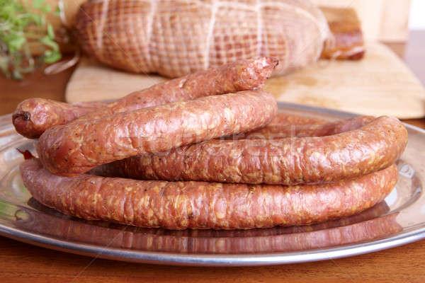 Cold smoked sausage Stock photo © Amaviael