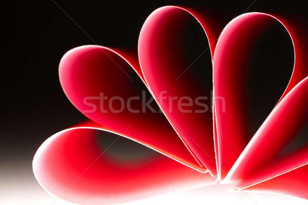 Papel flor rojo hermosa madera Foto stock © Amaviael