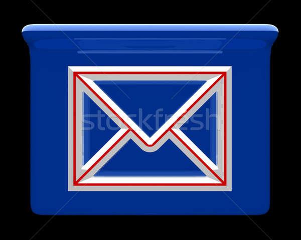 E mail box icon Stock photo © Amaviael