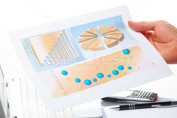 Business graphs and male hand Stock photo © Amaviael