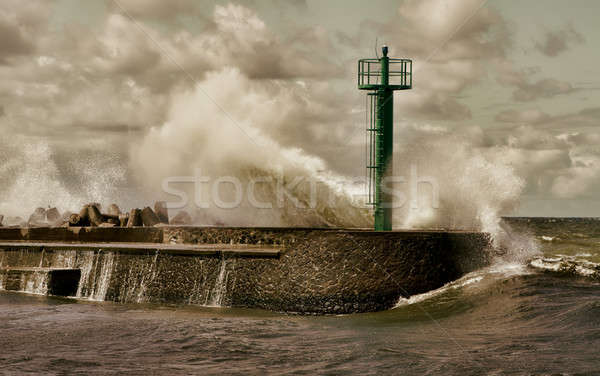Huge storm wave Stock photo © Amaviael