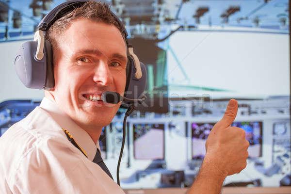 Airline pilot  Stock photo © Amaviael