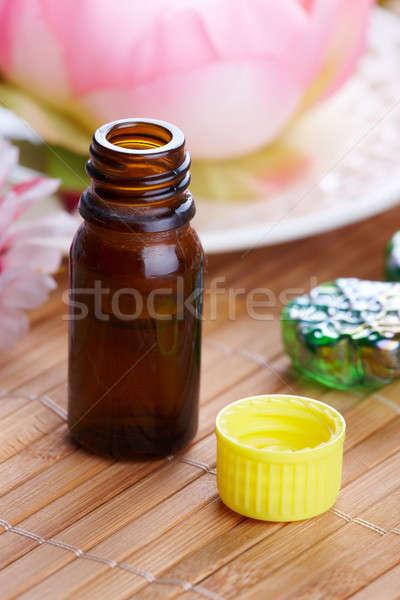 Aromaterapi yağ alternatif tıp şişe Stok fotoğraf © Amaviael