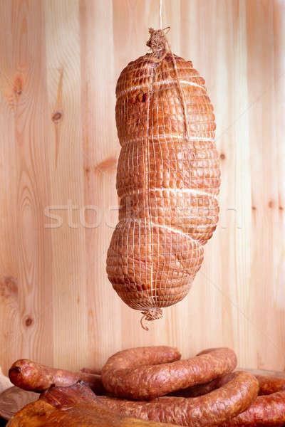 Cold smoked ham Stock photo © Amaviael