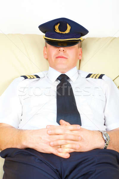 Airline pilot resting Stock photo © Amaviael