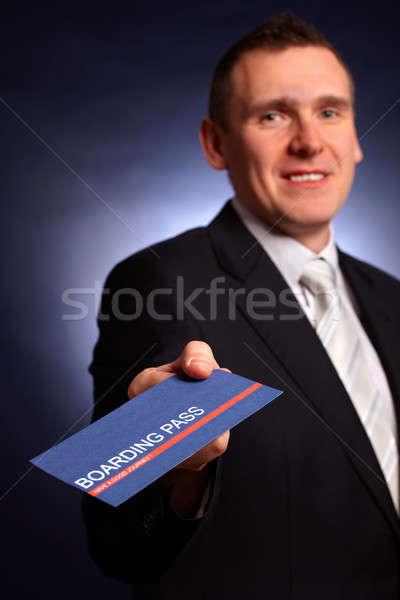 Hombre de negocios embarque elegante hombre Foto stock © Amaviael