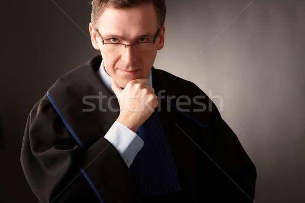 Avoué classique robe pense tribunal Photo stock © Amaviael