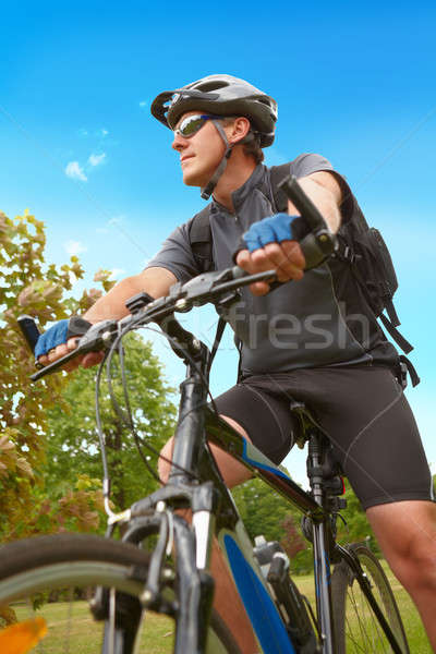 Man riding bike Stock photo © Amaviael