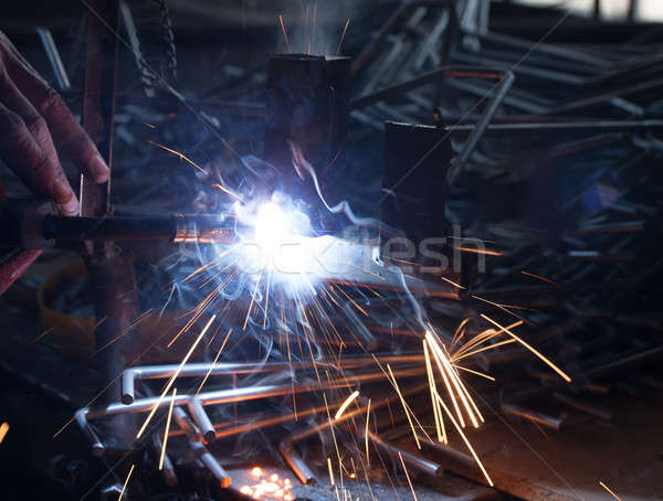 welding metal Stock photo © Amaviael