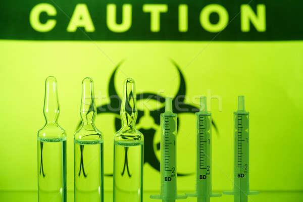 Biohazard and ampules Stock photo © Amaviael