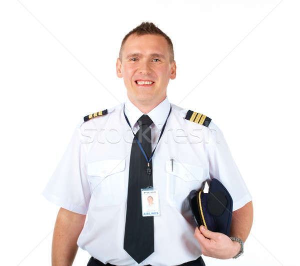 Cheerful airlines pilot  Stock photo © Amaviael