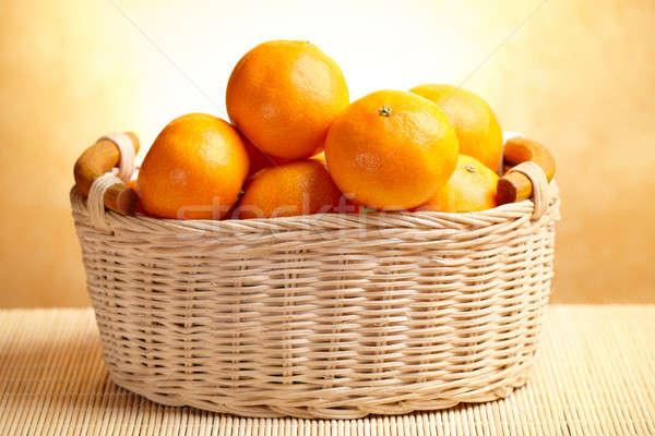 Alimentos frutas grupo color cesta amarillo Foto stock © Amaviael
